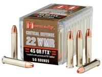 Hornady 22 WMR 45 GR FTX Critical Defense