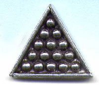 SNOOKER TRIANGLE PIN-значки